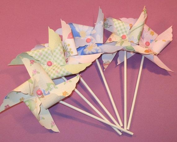 Fanciful Faries Pinwheels   (12)