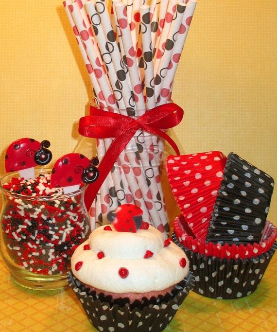 Lady Bug Cupcake Kit