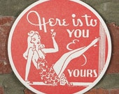 Pin-up Girl Letterpress Coasters (set of four)