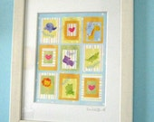 Wall Art for Baby, Zoo Friends Framed