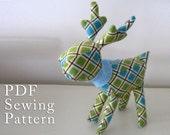 Deer/Reindeer PDF Sewing Pattern Christmas Stocking Stuffer