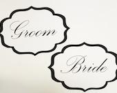 Bride and Groom. Wedding Signs. Photo Booth Prop. Wedding Reception