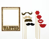 Western Themed Photobooth Prop. Photo Booth Props. Wedding, Birthday Photo Prop. Wanted