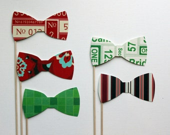 Photo Booth Props. Wedding Photobooth. Photo Props.Big City and Bright Lights Bowties - Set of Five