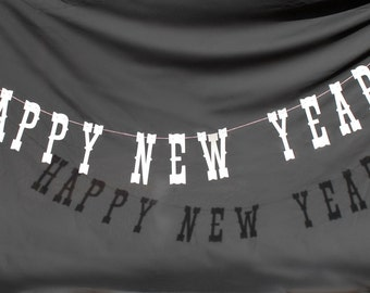 Happy New Year Garland - Photobooth - Photo Prop - Customizable