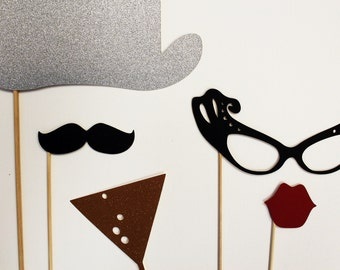 Photobooth Props. Photo Prop. Wedding Photo Props on a Stick. New Years Eve