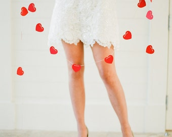 Photo Booth Prop. Photobooth Background. Photo Prop. Love Abound -  One Heart Garland - 10 Feet Total