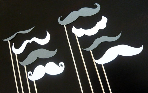 Photo Booth Prop. Photobooth. Mustache Party. Salt and Pepper Mustaches on a Stick