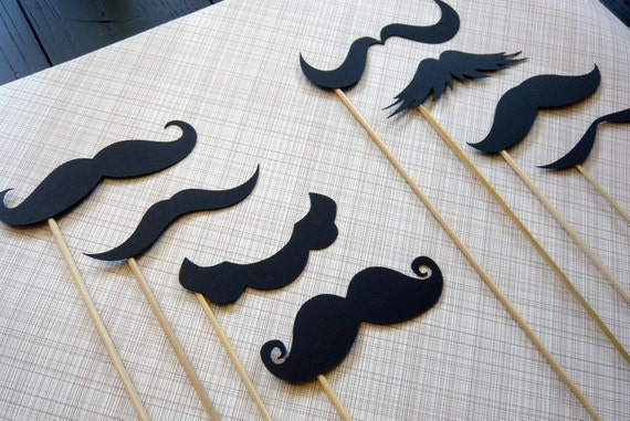 Stache-tastic -  Set of Eight Mustaches