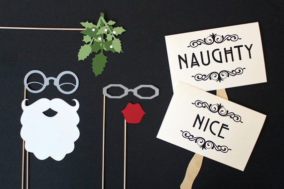 Christmas Photo Booth Props. Holiday Photobooth Prop. Photo Prop.Christmas Photo Prop Santa and Mrs Claus Mistletoe Photo Booth Prop