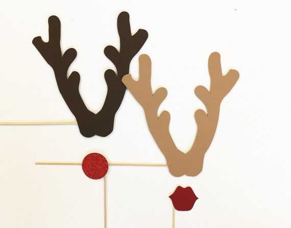 Photo Booth Props. Christmas Photobooth Photo Props. His and Her Reindeer Antlers. Christmas Pictures. Holiday Pictures. Christmas Minis