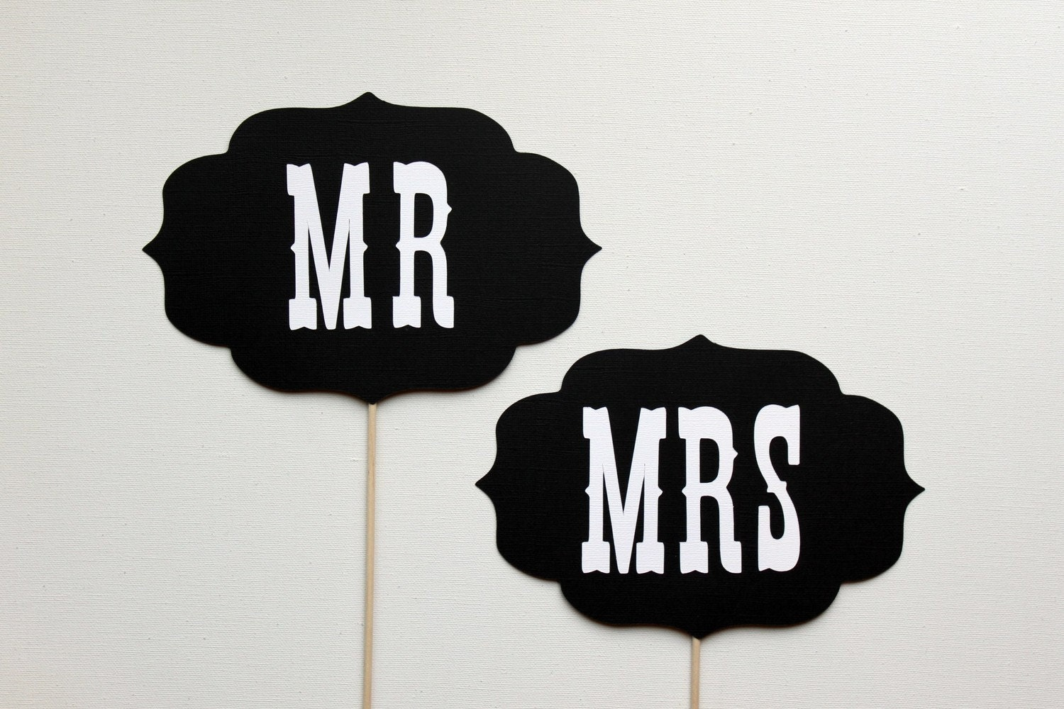 Wedding Photography Props: Photo Prop. Photobooth Prop. Mr And Mrs Wedding By