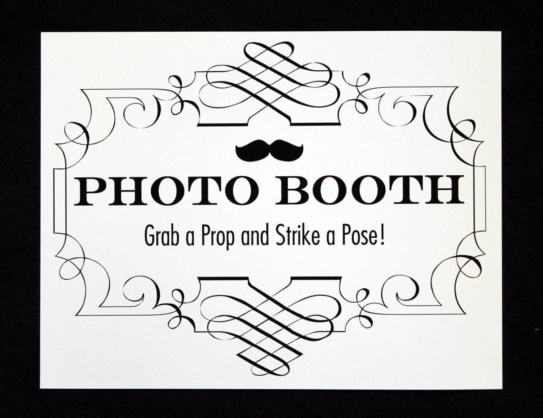 photo booth sign photo booth prop photobooth prop photo. Black Bedroom Furniture Sets. Home Design Ideas