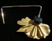 Art Deco Handbag Hook from reclaimed Vintage floral-inspired brooch