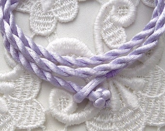 Lavender Silk Cord Necklace For Pendants, Tiles, Cabochons, Jewelry Supply, Pendant Supply
