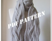 PATTERN - Bella Twilight SCARF - Knitted - DIY