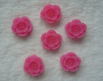 12 fusia 9mm flower cabs