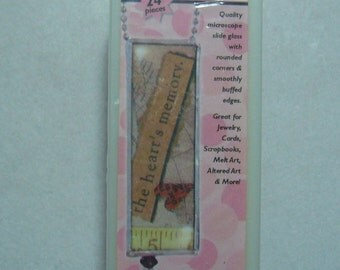 1 in x 3 in rectangle memory glass slides