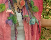 sparkling fairy fantasy garden - silky adornment/scarf/lariat from the enchanted forest