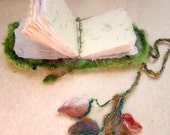 her dream of leaves - rustic, sparkling handmade book from the enchanted forest