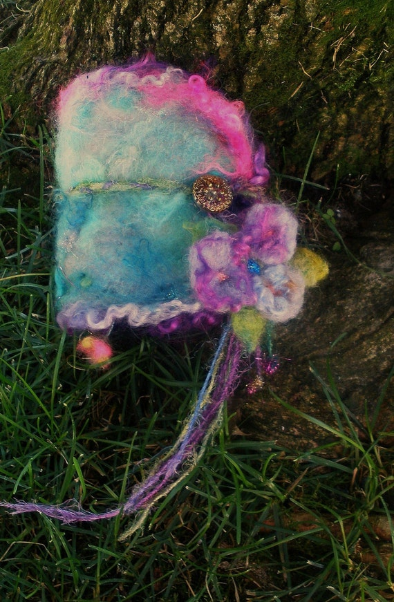 enchanted forest fairy dream diary -  rustic sparkling and magical handmade book