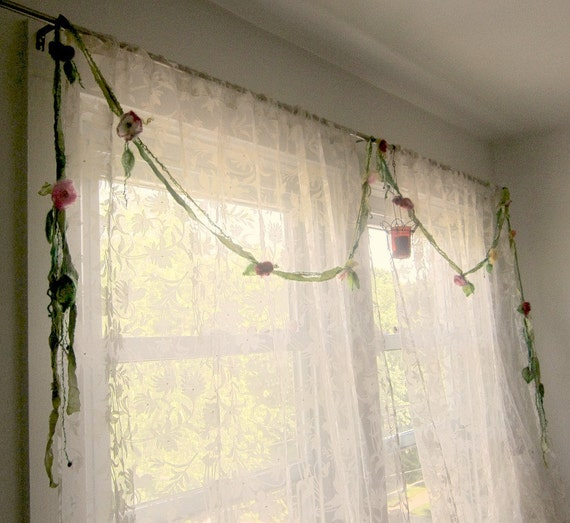 woodland rose flower garland from the enchanted forest/ fairy curtains