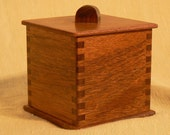 Small Dark Wood Tea Box