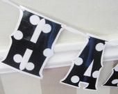 Black and White HAPPY BiRTHDAY - polka dots