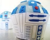 r2d2 Robot Cupcake Wrappers - Droid Birthday, Shower, Bridal, Wedding