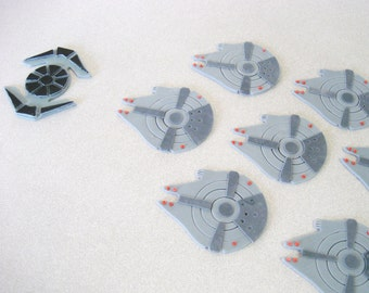 Millennium Falcon Cupcake Toppers, Star Wars Cupcake Toppers, Tye Fighters, Star Wars Cupcake Toppers, Star Wars Party, Star Wars