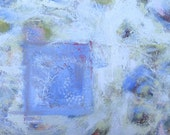 Blue Acrylic Abstract Painting, Large original on canvas - BrookeHowie