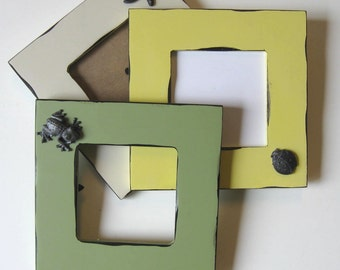 SALE, 3 Embellished photo Frames Beach Cottage Decor, Home and Living, Nursery decor, gift idea