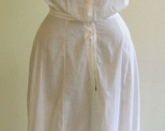 1910's Full Length Fitted Slip With Deep Flounce