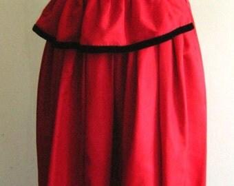 1940's Red Taffeta Full Length Gown