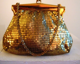 1930s Gold Whiting and Davis Purse