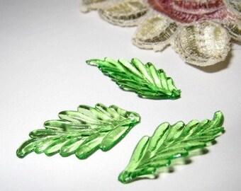 24 pcs 25mm - leave beads / charms (LE020)