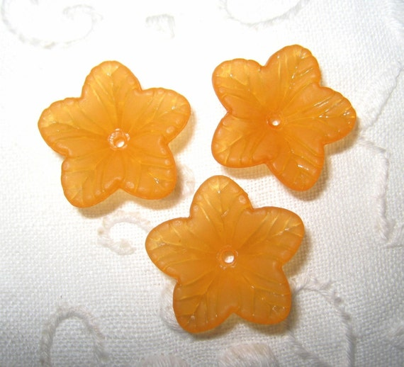18mm - Frosted flower beads - 10 pcs (FL001-E)