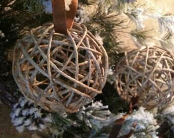 Natural Rustic hemp ornaments