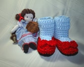 Baby Wizard of Oz Dorothy's Ruby Slippers Booties costume halloween