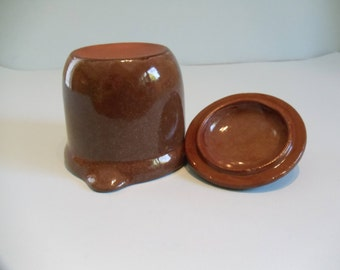 Stoneware Jar with Lid