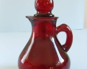 Red Glass Avon Perfume bottle
