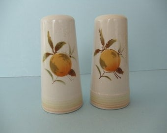 Apricot Salt and Pepper Shakers