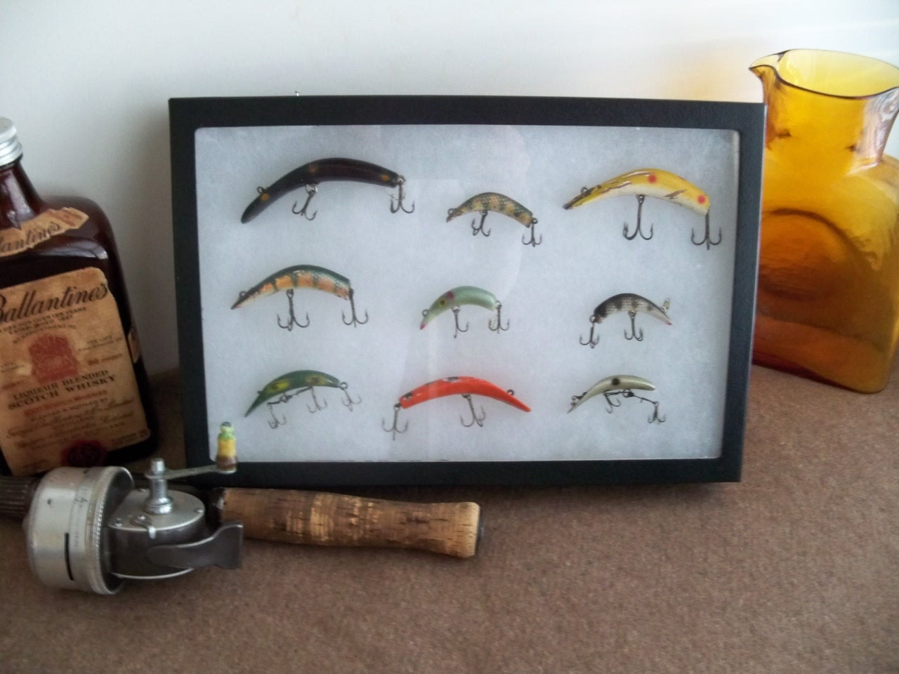 fishing lure display a vintage collection of retired by