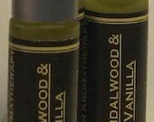 Sandalwood Vanilla Perfume Oil Roll On Perfume Fragrance Oil Natural Perfume Vegan Perfume Body Oil Essential Oils Unisex Perfume