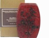Badan Body Bulgarian Rose & Sandalwood Soap (Alma): Handmade Glycerin Rich Shea Butter Soap, 6oz Bar
