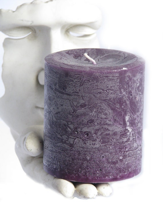 "PATCHOULI Scented Pillar Candle, Small 3""x3.5"" Handmade Essential Oils Candles, Natural Candles, Aromatherapy Money Candles"