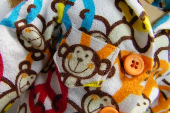 Funky Monkey Jammies for your American girl doll