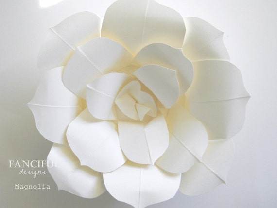 Huge paper flowers hand torn french paper flowers as seen for Paper flower templates martha stewart