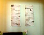 SALE: Commission of Original Hand Painted Bird's View Painting of Birch Trees