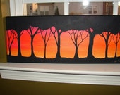 SALE: Artist signed African Sunset painting